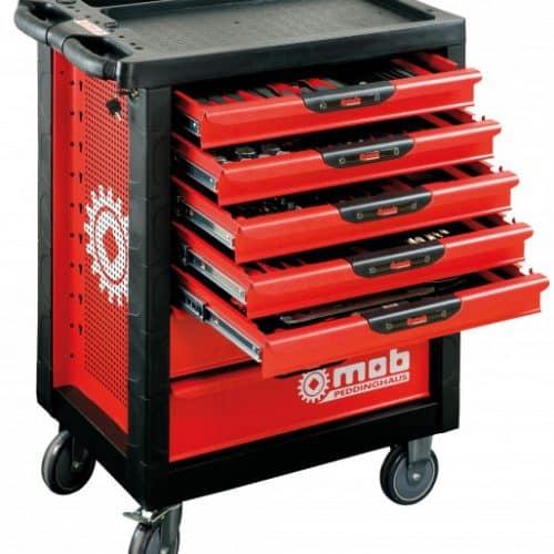 Verktygsvagn utan verktyg 7 lådor