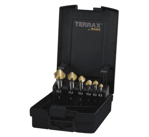 Försänkarsats Terrax TIN 6,3-20,5 mm