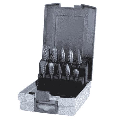 Roterande hårdmetallfilar komplett sats 10 stycken