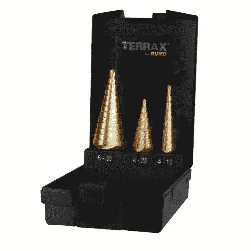 Stegborrsats TIN 3 stycken borr 4-30 mm.